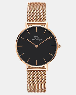 02a023081111 Daniel Wellington Women Classic Petite Melrose 32mm Watch DW00100161 Black