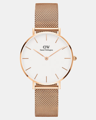 c994c7871f78 Daniel Wellington Women Classic Petite Melrose 32mm Watch DW00100163 White
