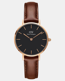 Daniel Wellington Women Classic Petite St Mawes 28mm Watch DW00100225 Rose Gold-plated