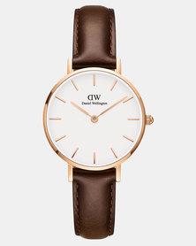 Daniel Wellington Women Classic Petite Bristol 28mm Watch DW00100227 Rose Gold-plated