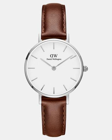 Daniel Wellington Women Classic Petite St Mawes 28mm Watch DW00100243 Silver