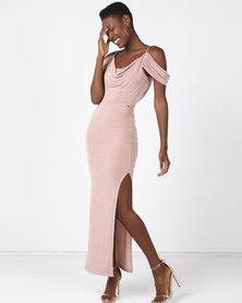 Sissy Boy Scoop Neckline Maxi Dress Pink