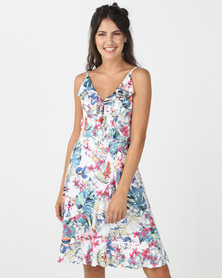 Utopia Floral Dress White