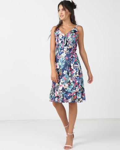 Utopia Floral Dress Blue