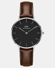 Daniel Wellington Women Classic Petite Bristol 32mm Watch Silver