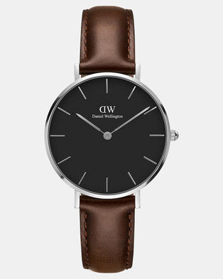 05e4a3dd29fd Daniel Wellington Women Classic Petite Bristol 32mm Watch Silver