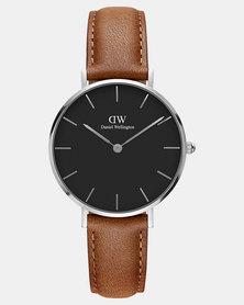 Daniel Wellington Women Classic Petite Durham Black 32mm Watch Silver