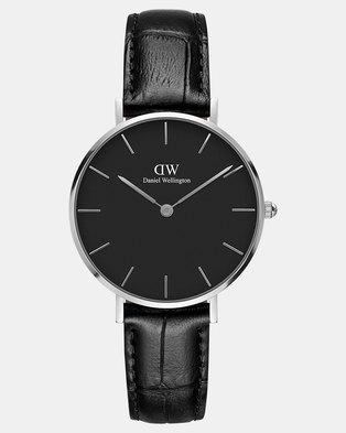 Daniel Wellington Women Classic Petite Reading 32mm Watch Silver