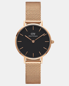 Daniel Wellington Women Classic Petite Melrose 28mm Watch Black