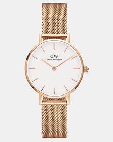 Daniel Wellington Women Classic Petite Melrose 28mm Watch White