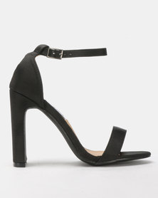 Madison Kirsta Ankle Strap Heeled Sandals Black