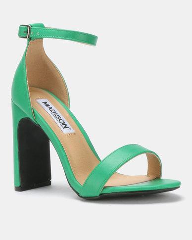 Madison Strap Ankle Heeled Sandals Kirsta Green ZiPkuOXT