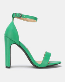 Madison Kirsta Ankle Strap Heeled Sandals Green