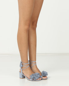 Madison Rio Mid Block Heel Sandals Light Blue