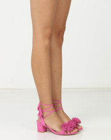 Madison Rio Mid Block Heel Sandals Hot Pink