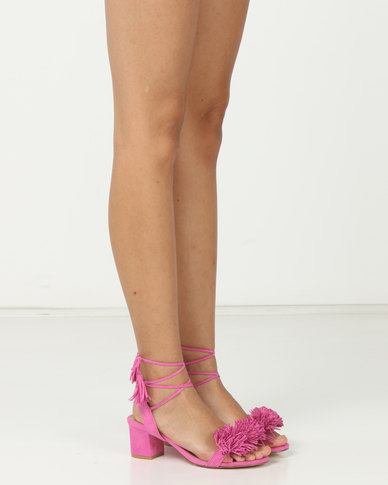7860e6665da Madison Rio Mid Block Heel Sandals Hot Pink