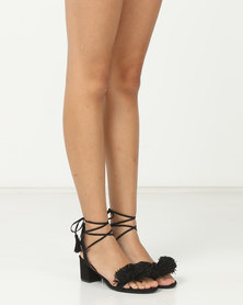 Madison Rio Mid Block Heel Sandals Black