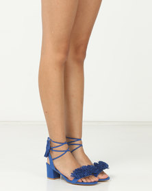 Madison Rio Mid Block Heel Sandals Blue