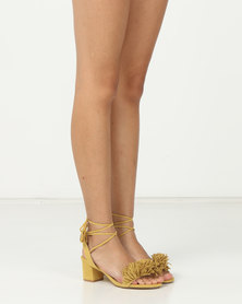 Madison Rio Mid Block Heel Sandals Mustard