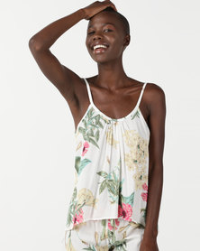 Bella G Floral Printed Cami White