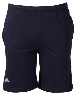 Kappa Unisex Cabog Shorts Blue Marine