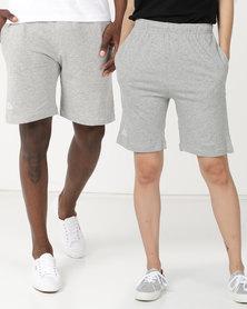 Kappa Unisex Cabog Shorts MD Grey Melange