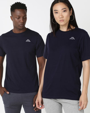 f37607702002 Kappa Unisex Basic T-Shirt Blue Marine