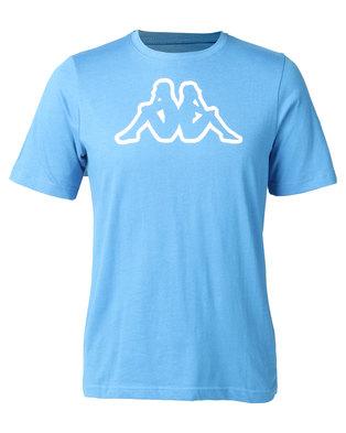 Kappa Unisex Cromen T-Shirt Azzurrio Italia Blue