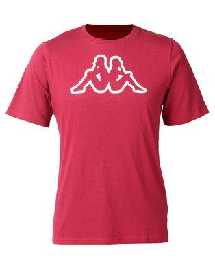 Kappa Unisex Cromen T-Shirt Red/ Dark Scarlet