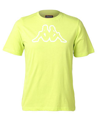 Kappa Unisex Cromen T-Shirt Green Lime Punch