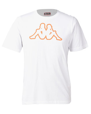 Kappa Unisex Cromen T-Shirt White/Orange