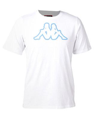 Kappa Unisex Cromen T-Shirt White/Azzurro Italia