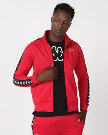 Kappa Unisex 222 Banda Anniston Slim Jacket Dark Red/Black