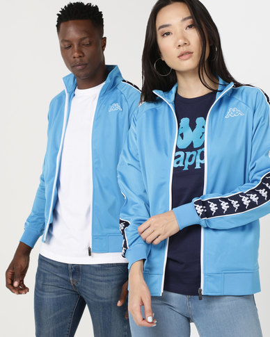 Kappa Unisex 222 Banda Anniston Slim Jacket Blue