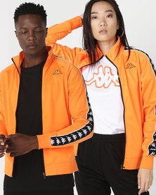 Kappa Unisex 222 Banda Anniston Slim Jacket Orange Pop/Black