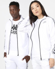 Kappa Unisex 222 Banda Anniston Slim Jacket White/Black