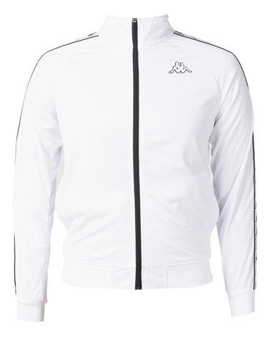6c7fee870a Kappa Unisex 222 Banda Anniston Slim Jacket White/Black   Kappa