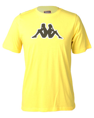 Kappa Unisex Logo Airi TR T-Shirt Yellow/Green/White