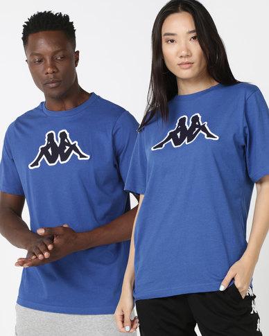 Kappa Unisex Logo Airi TR T-Shirt Blue/White