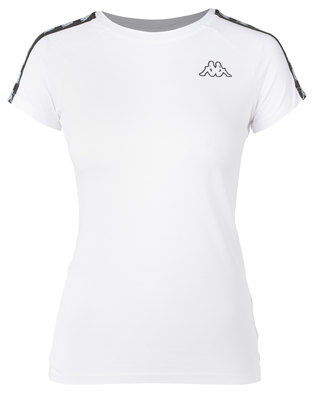 Kappa Banda T-Shirt White/Black
