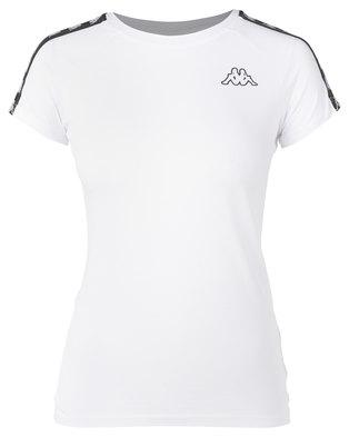 Kappa Banda T-Shirt White/Black
