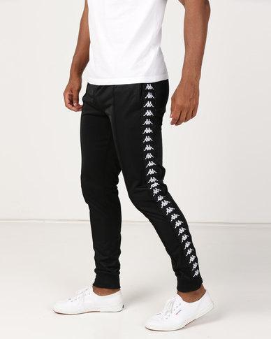 49af5279e4 Kappa Unisex 222 Banda Arib Slim Pants Black