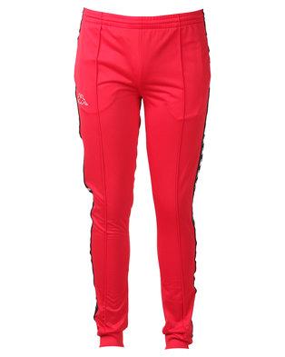 Kappa Unisex 222 Banda Arib Slim Pants Dark Red/Black
