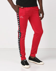 Kappa Unisex 222 Banda Arib Slim Pants Dark Red/Black
