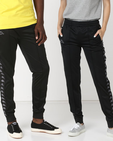 Kappa Unisex 222 Banda Arib Slim Pants Black/Grey