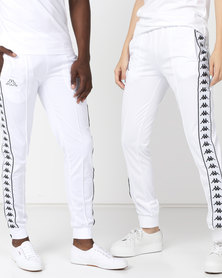 Kappa Unisex 222 Banda Arib Slim Pants White/Black