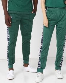 Kappa Unisex 222 Slim Pants Green/Blue/White