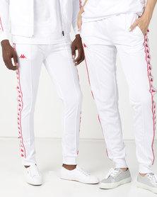 Kappa Unisex 222 Banda Arib Slim Pants A21 White/Red