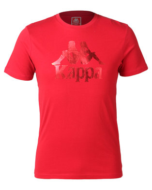 Kappa Unisex Authentic Estessi Tee Dark Red