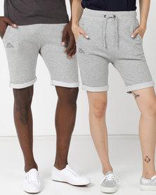 Kappa Unisex Logo Zibu Shorts MD Grey Melange